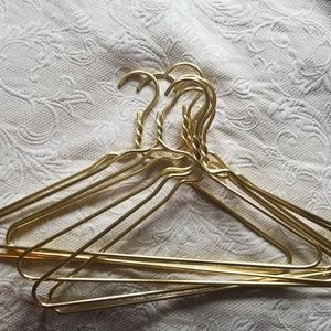 Other - Set of 10 goldtone aluminum hangers
